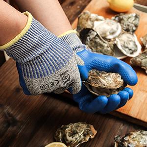 Oyster Shucking meat cutting, mandolin filleting, slicing, peeling, chopping