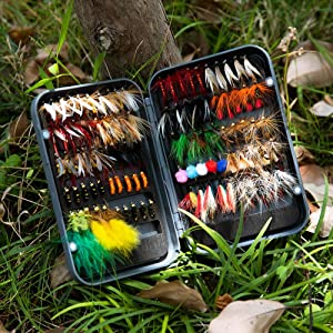 flies kit with fly box