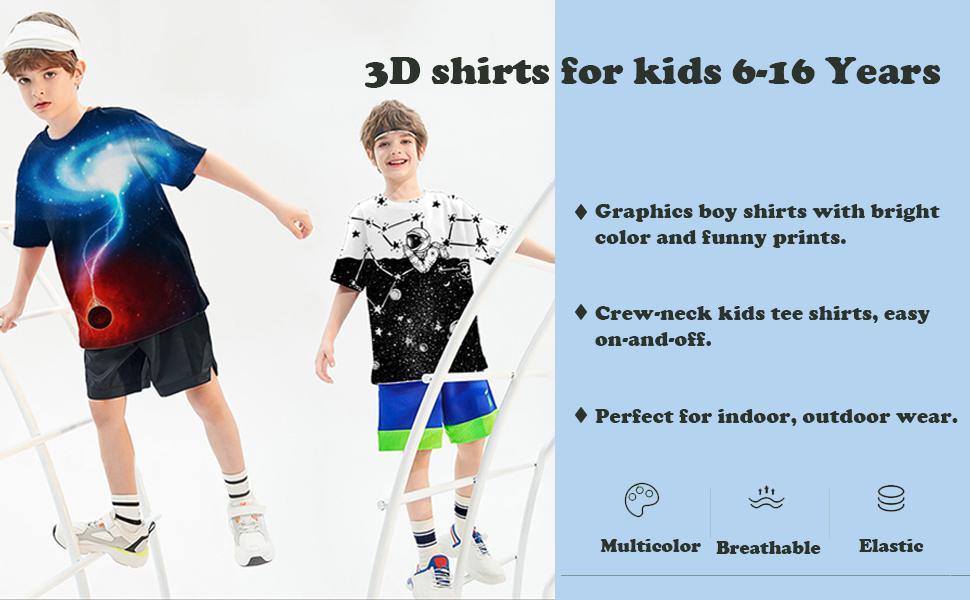 kids graphic tees 3d pattern shirts for kids youth shirts girls shirts