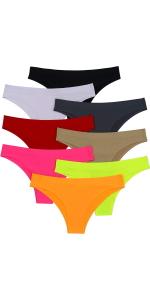 pack of six girls no show panties bikinis briefs thongs
