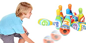 foam bowling set are light weighted,  can easily carry to any places