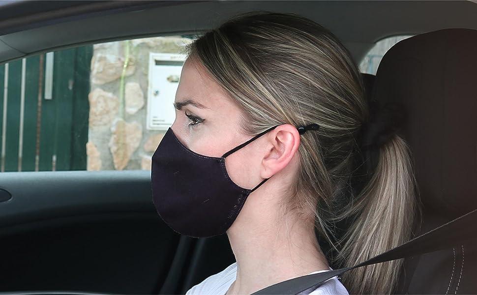 Mascarillas de tela negras de gran protección y seguridad