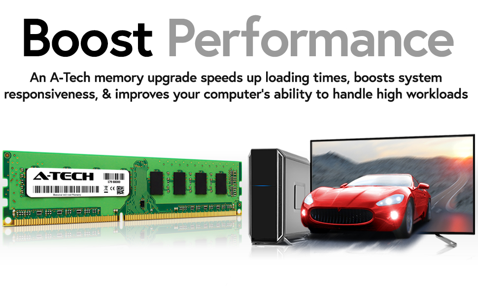 Boost Computer Performance, speed up loading times and improve your computer's responsiveness