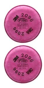 3M Particulate Filter 2096, P100, with Nuisance Level Acid Gas Relief