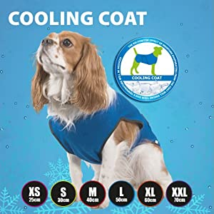 cooling coat size guide