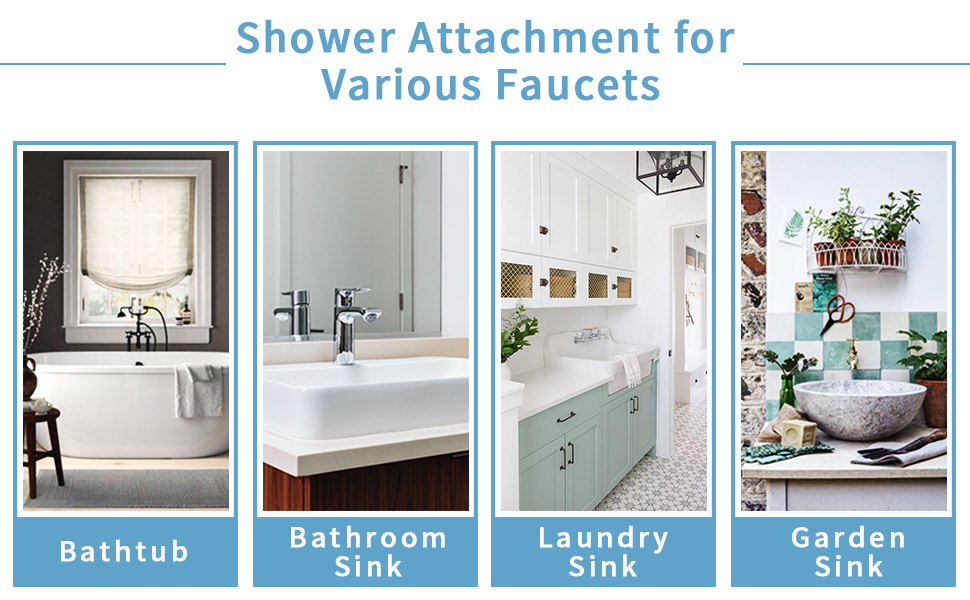 shower attachment for various sinks