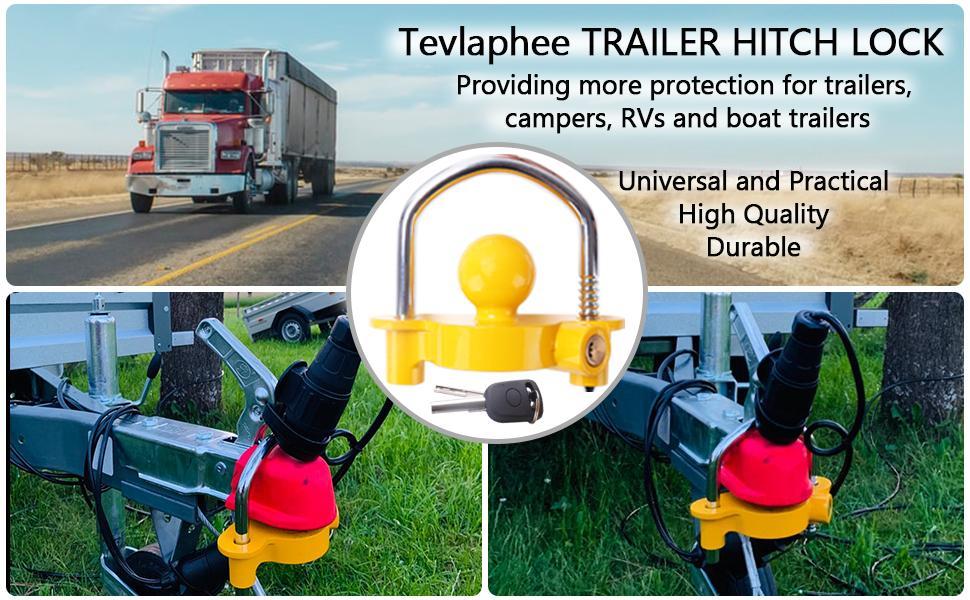 Tevlaphee universal trailer hitch lock