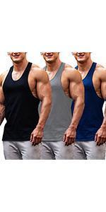 Men's 3 Pack Gym Tank Tops