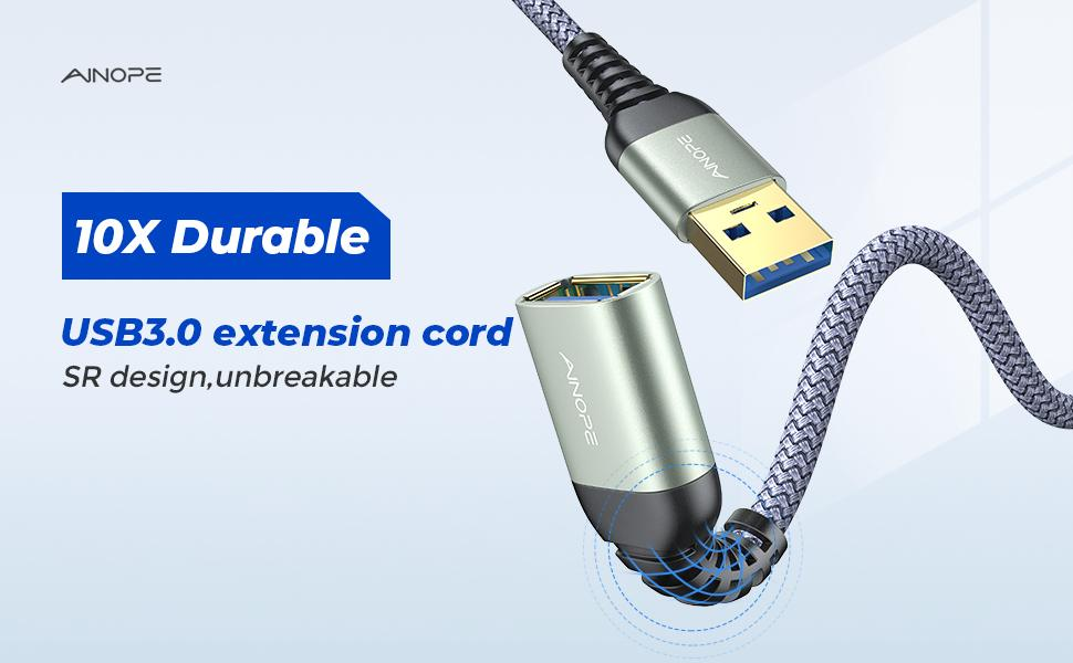 10X Durable USB 3.0 Extension Cable
