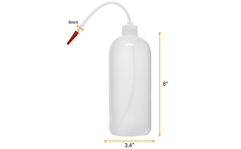 1000ml capacity wash bottle, made of with high quality polyethylene plastic