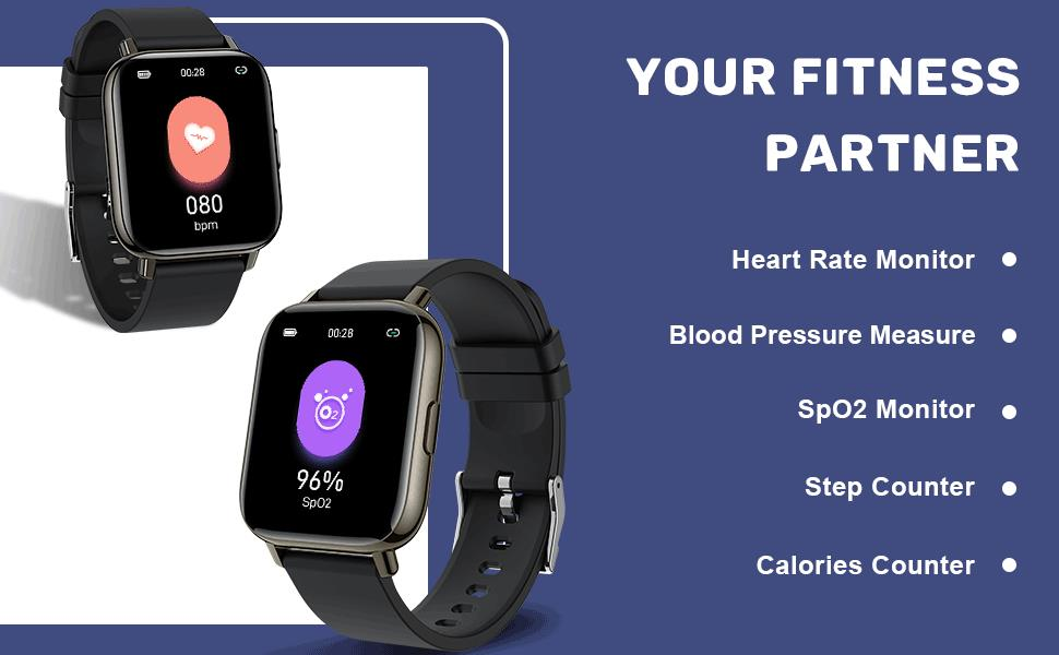 Heart Rate Monitor and Blood Pressure and Blood Oxygen Monitor