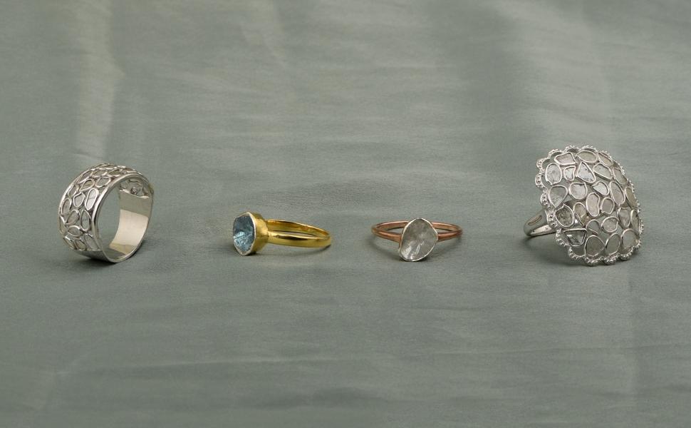natural Diamond Polki ring