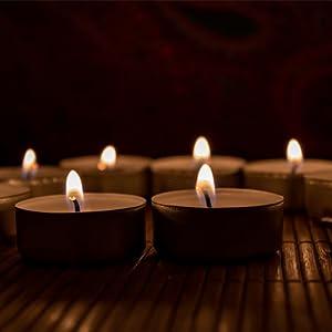 Light candlelight tea candle night luminaries potpourri centerpiece candles burn candle dinner