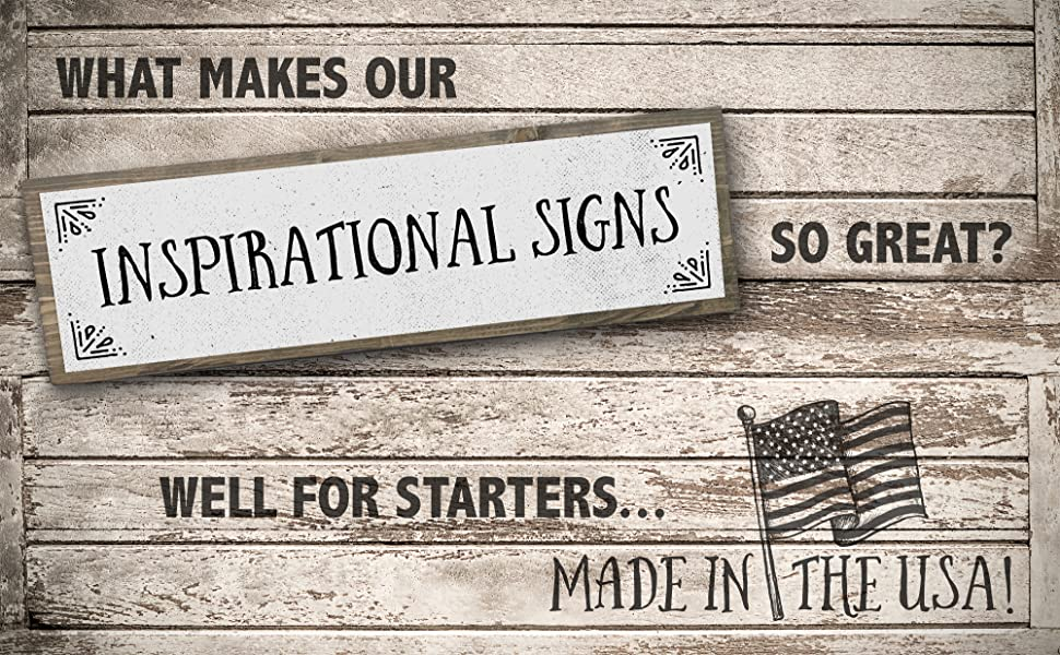 Inspirational Signs wooden wall decor box sign