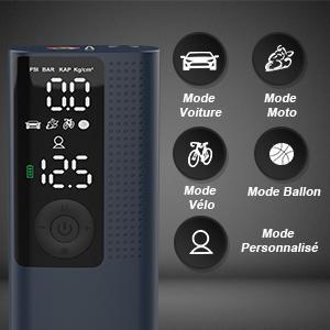 Vastar Compresseur à Air Portable Gonfleur Electrique