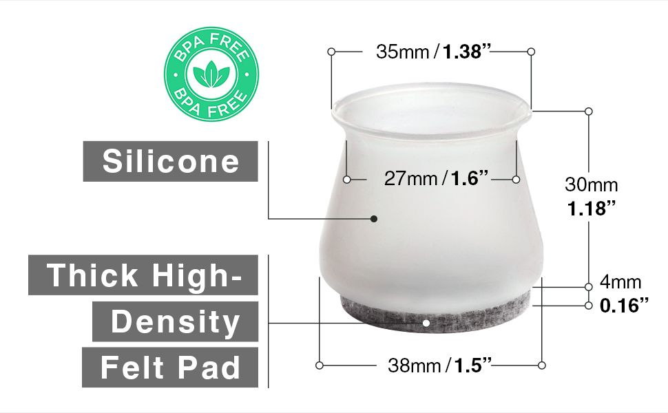 silicone furniture cups