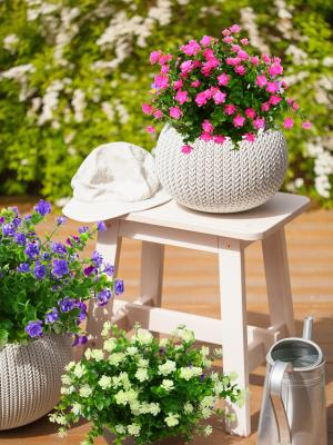 fake flowers for outdoor