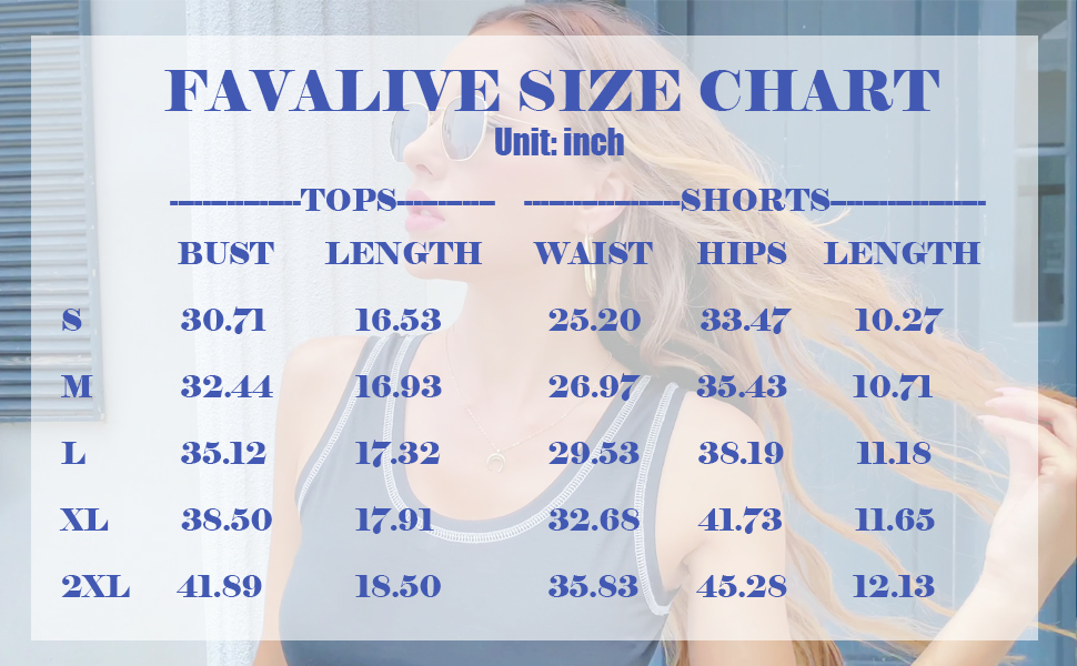 FAVALIVE Size Chart