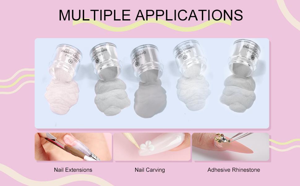 colored acrylic nail powder