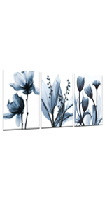 Blue Flower Picture Printed on Canvas Painting