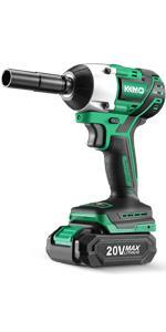 KIMO 20V 1/2 Cordless Brushless Impact Wrench Set