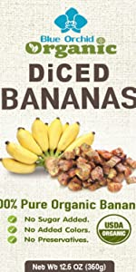 Blue Orchid Organic Diced Bananas