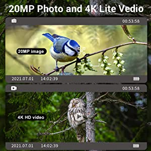 Trail Camera for Hunting with Night Vision,  Scouting Camera for Outdoor Wildlife Monitoring