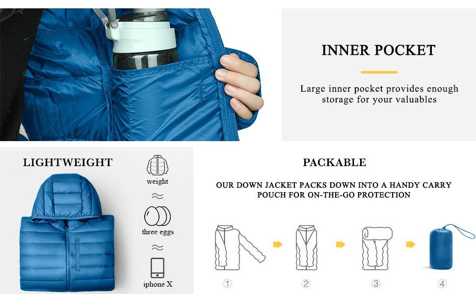 Women's Packable Down Coat