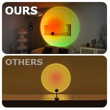 CRAZCALF Lampadaire Sunset Lampe Lampe de Projection Coucher de Soleil