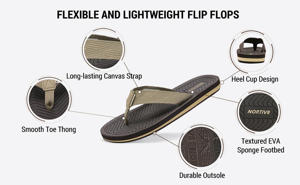 Flexible and Lightweight Flip Flops