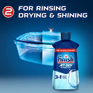 For rinsing, drying and shining