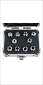 10 Pc ER16 Collet Set, Size from 1/32 in to 3/8in 0223-0765
