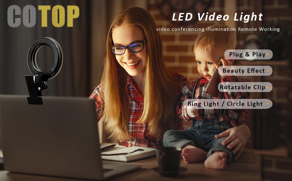 Cotop Ringlicht für Laptop und Home Office Licht