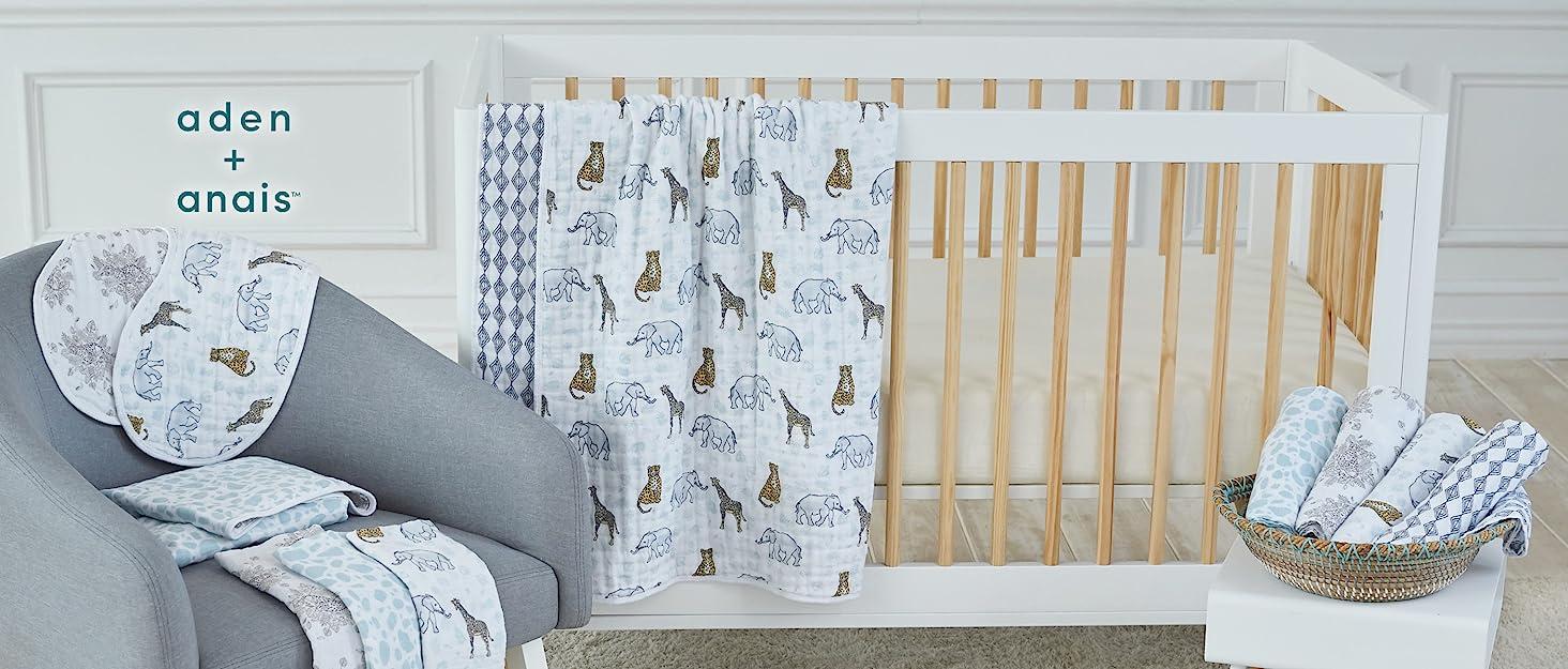 crib and chair