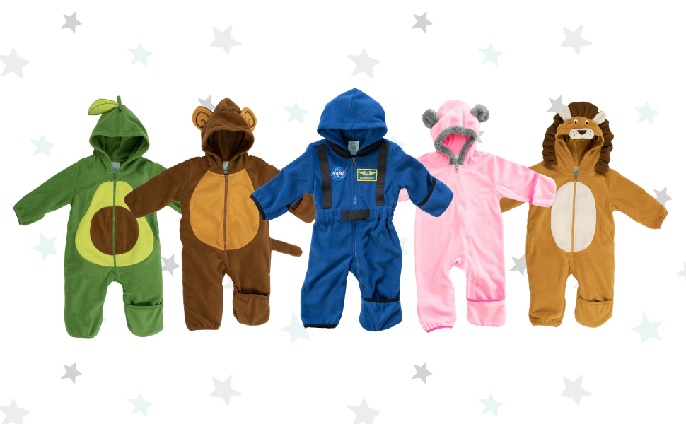 Baby Bunting Toddler Onesie Rollover Cuffs Bear Ears Animal Onesie with hood ears warm baby onesie