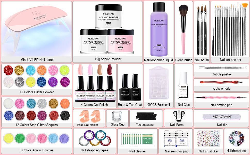 acrylic nail kit with everything