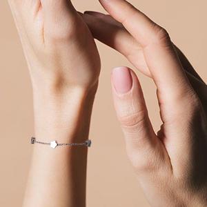 thin bracelet silver