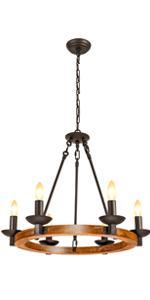 shine decor chandelier wagon wheel wood kitchen island