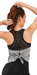 Tie Back Workout Tops