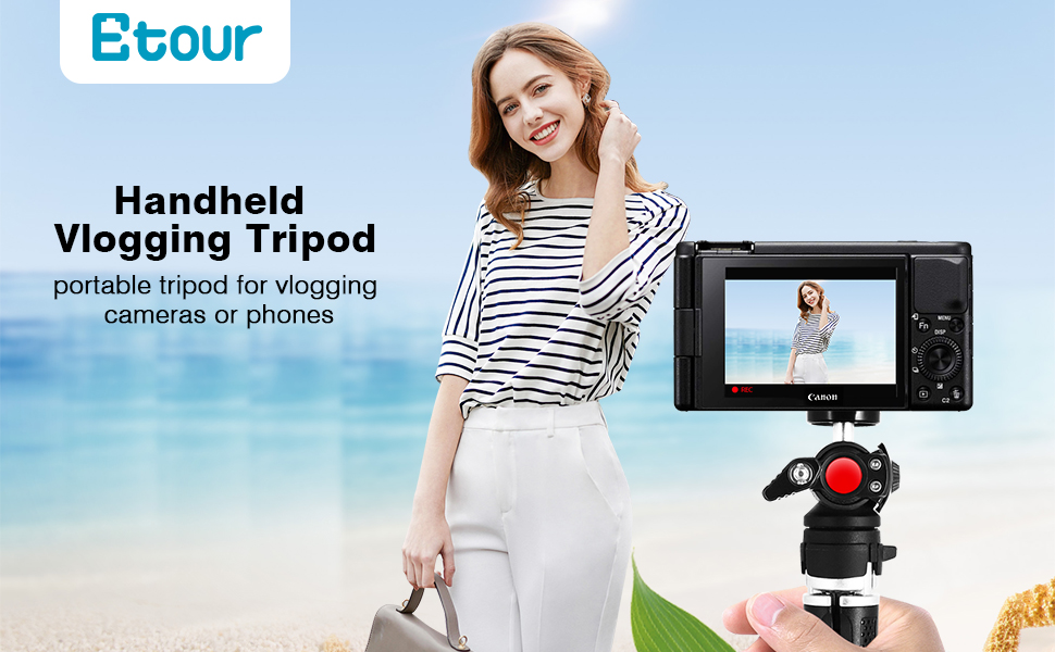 Portable Handheld Grip Vlogging Tripod for Sony A6000 Canon G7X M50 Mark ii