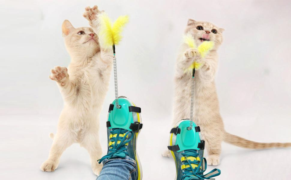 cat wand feather toys