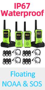 walkie talkies floating ip67 waterproof