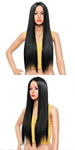 Headband Wig for Black Women Red Curly Headband Synthetic Wigs High Density Glueless Wig
