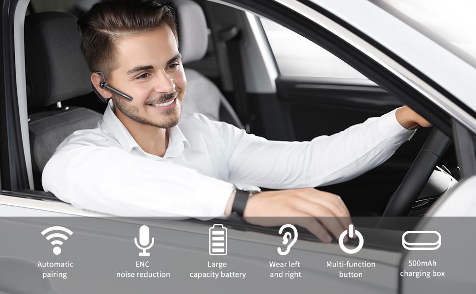 Single Ear Bluetooth Headset