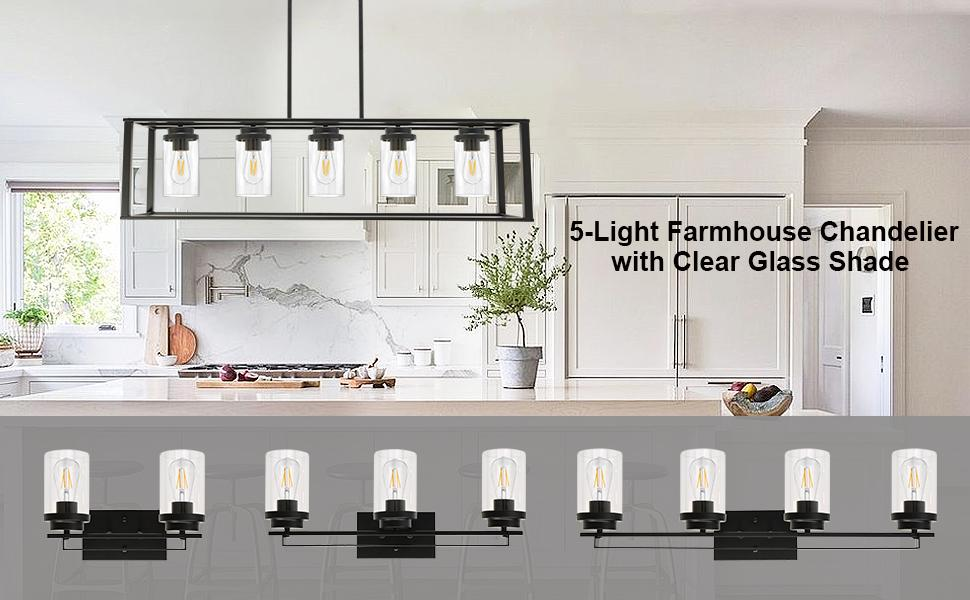 Farmhouse chandelier for dining room
