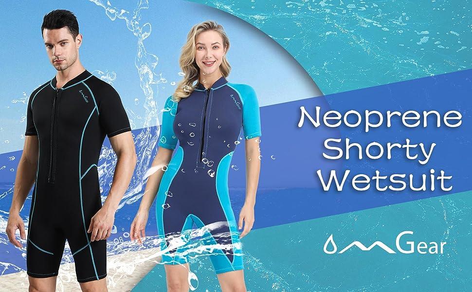 OMGear neoprene swimsuit snorkeling gear wetsuit