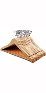 成人木衣架-原木