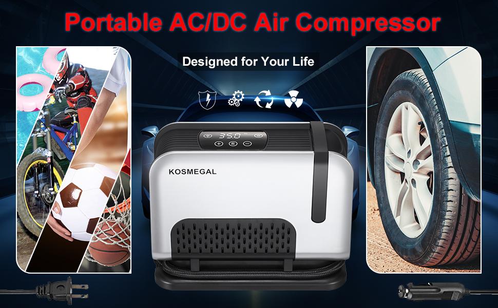 portable ac dc air compressor