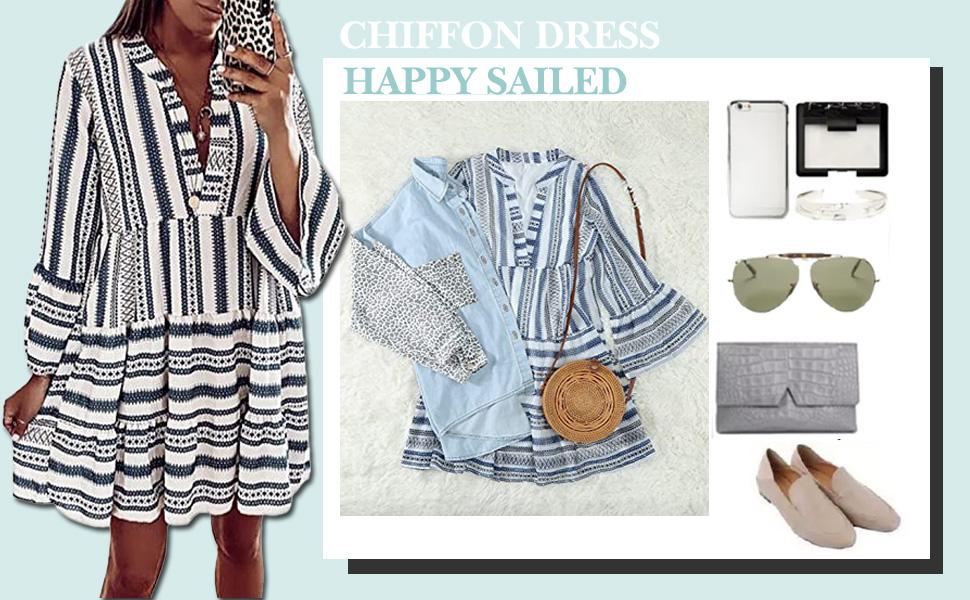 chiffon ruffle dresses