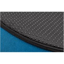 Black non slip base on LillyZen blue Donut Seat Cushion